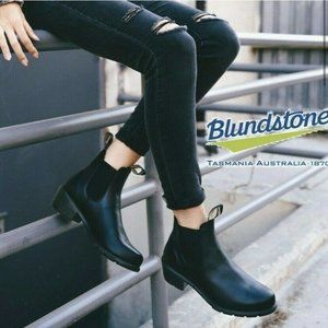 Blundstone SERIES HEELED Chelsea Boot Black US 8